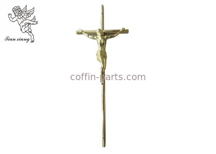 Gold Jesus Casket Cross Size 37×13.7 Cm , Jesus 3 # Coffin Cross PP Material