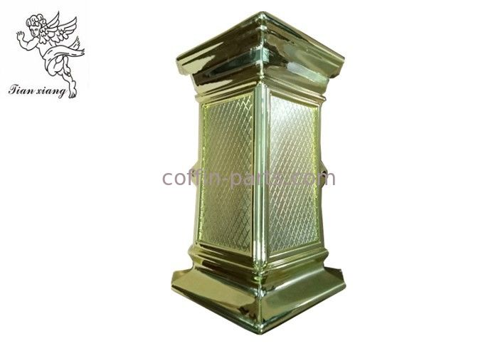 Coffin Swing Handle Decoration Coffin Corner , PP Material Pale Gold Coffin Accessories
