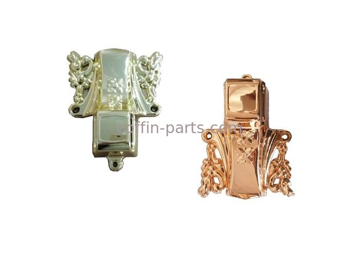 PP OR ABS Plastic Customized Gold-plating  Coffin Parts For Funeral Decoration