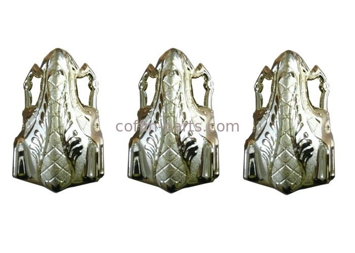 Coffin Decoration Casket Accessories Pale Gold Plastic PP Recycle Material
