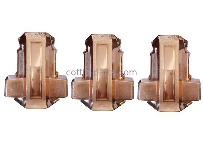 Standard Style Copper Plastic  Funeral Furniture Coffin Parts Casket Corner With PP Plastic
