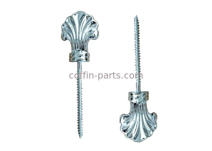 Funeral Coffin Hardware Lid Decoration , Parts Of A Coffin PP And Iron Material