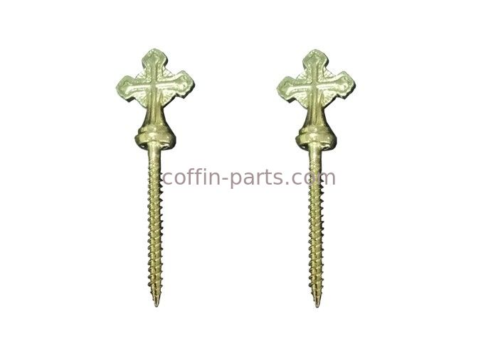 ElectroPlating Zinc Coffin Screw 10# Funeral Hardware Cross Shaped Decoration